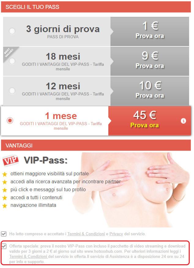 4club vip pass quanto costa premium