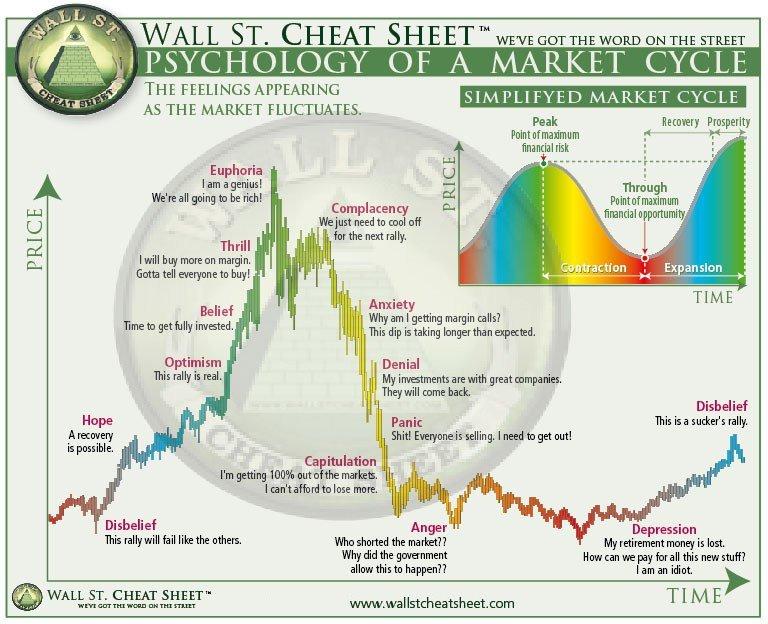 psicologia cicli del mercato bitcoin