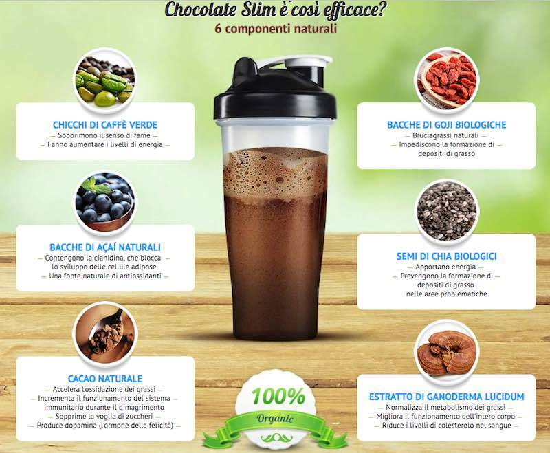 chocolate slim ingredienti