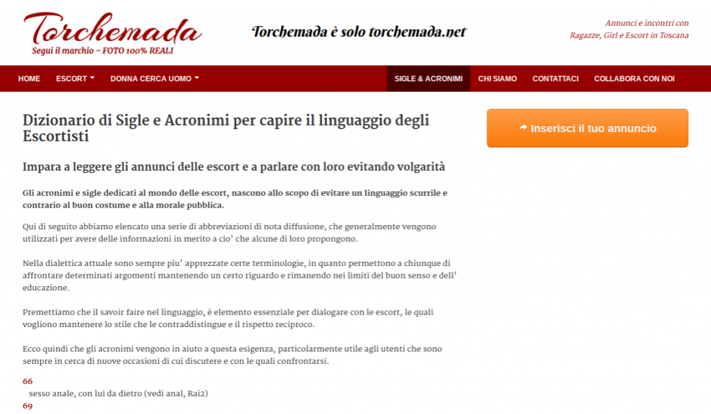 torchemada annunci adulti alternative gratis