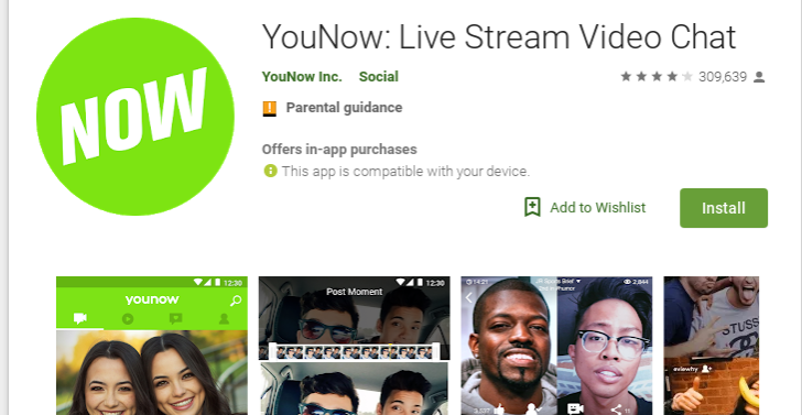 app di younow video cam