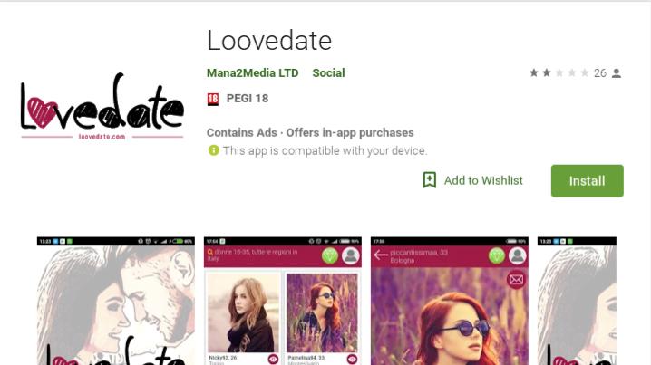 loovedate app truffa funziona alternative