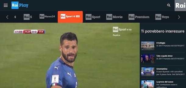 canali in chiaro streaming