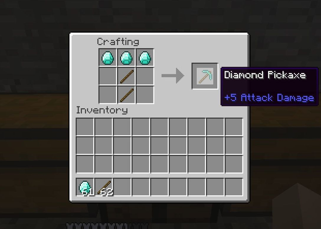 piccone di diamante minecraft