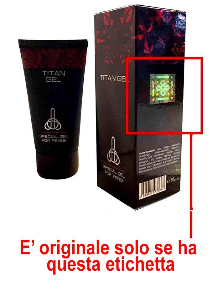 titan gel originale contraffatto falso ologramma verifica