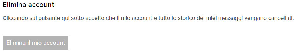 come cancellare o eliminare account flirtdiscreto