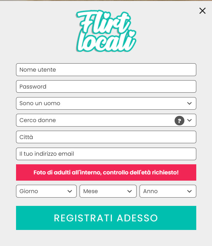 come registrarsi a flirtlocali