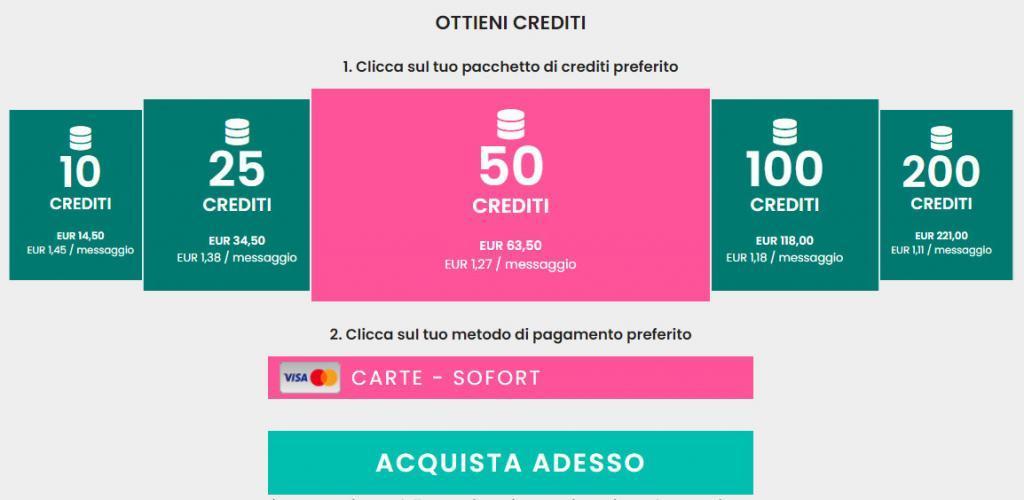 crediti flirtlocali costo