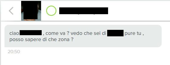 chat con falso profilo operatore
