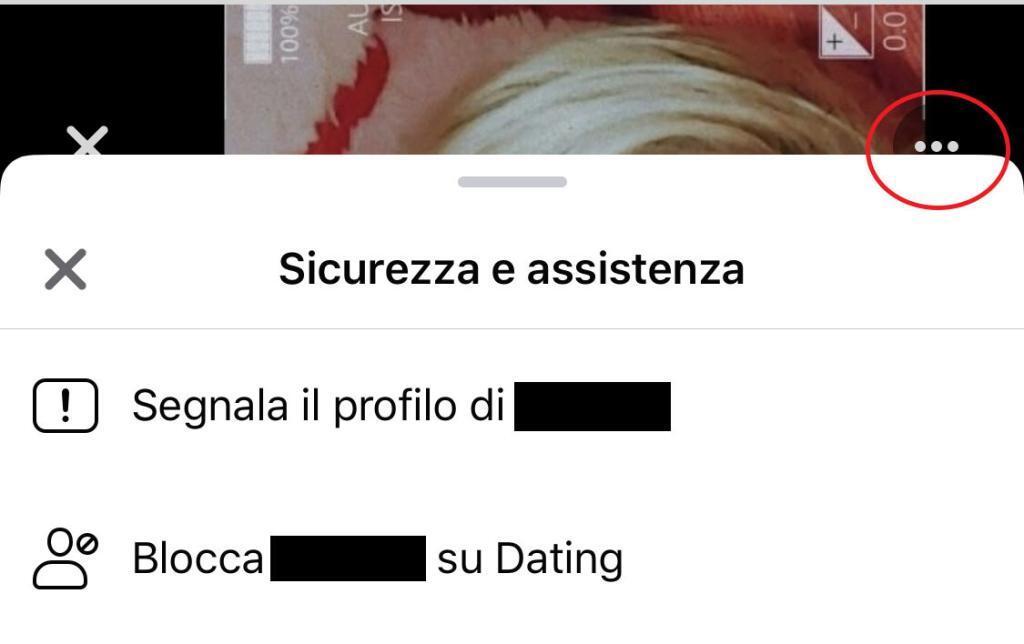 come bloccare un profilo su Facebook Dating