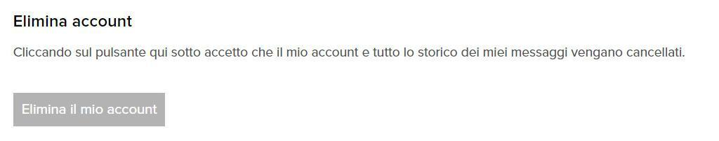 come eliminare account su Provocami