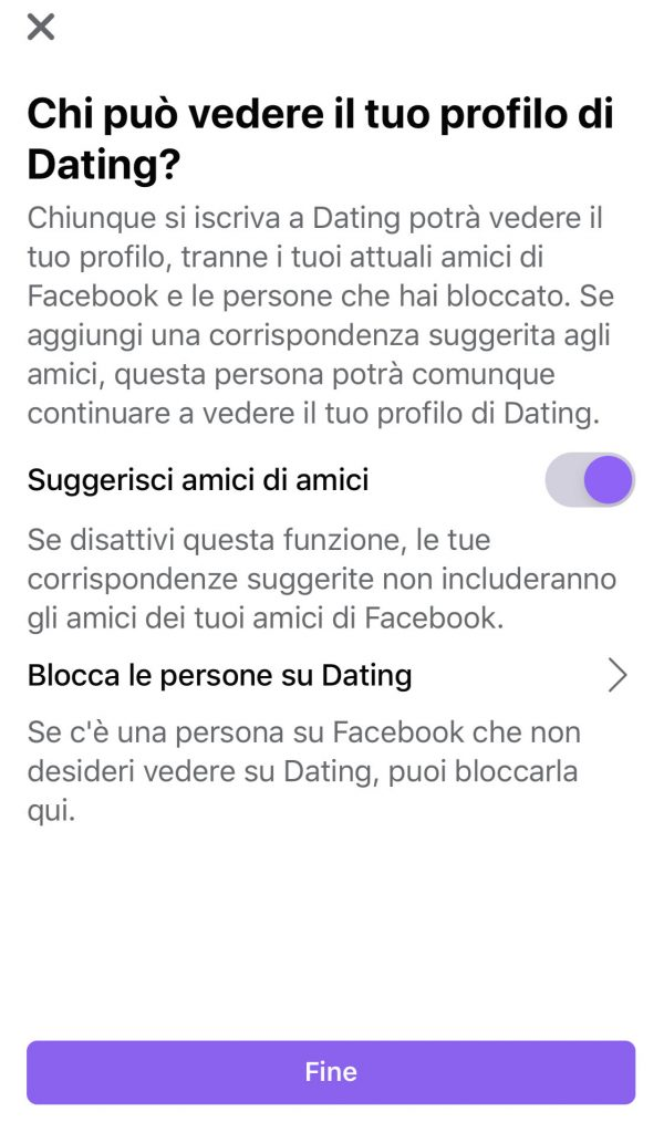facebook dating suggerisi amici di amici