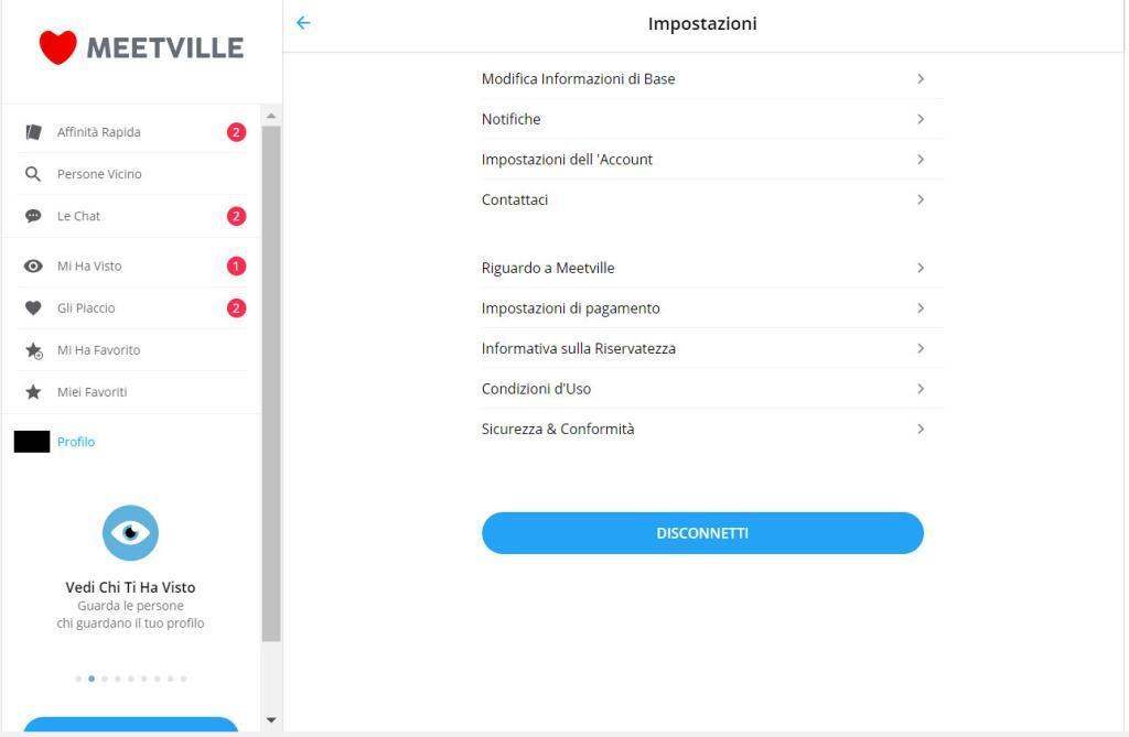 come cancellare profilo su Meetville-evitando rinnovo abbonamento